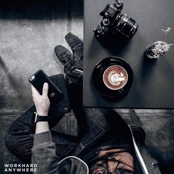 black, album cover, WORK, HARD, ANYWHERE,
