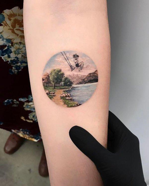 tattoo, leg, thigh, arm, skin,
