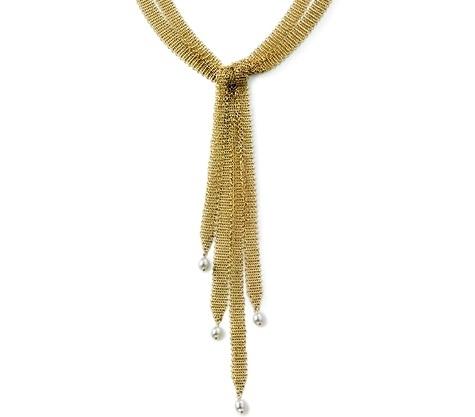 Elsa Peretti Mesh Tassel Necklace
