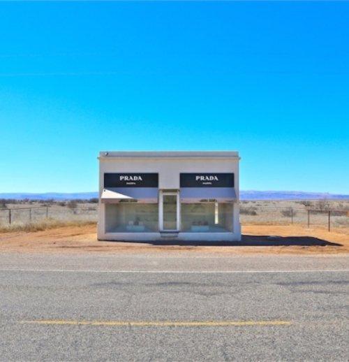 Mafra, Prada store, property, prairie, facade, signage,