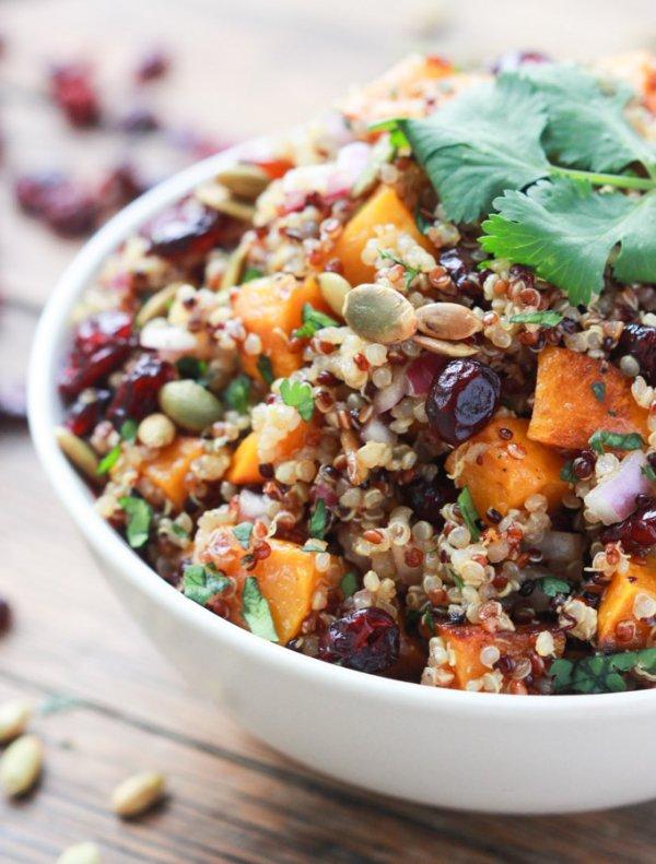 Butternut Squash and Cranberry Quinoa Salad