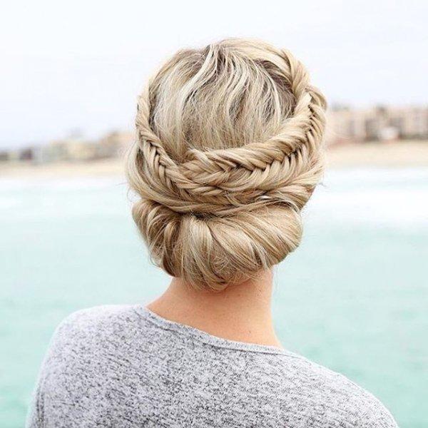 hair, hairstyle, long hair, blond, french braid,