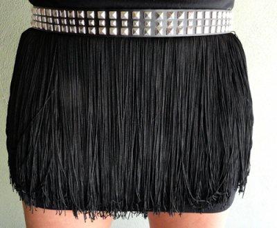 Belted Fringe Skirt