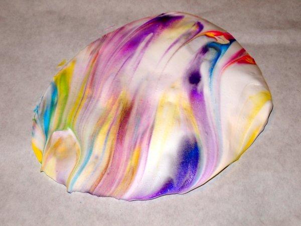 Marbleized Paper Eggs