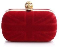 Alexander McQueen Velvet Britain Clutch