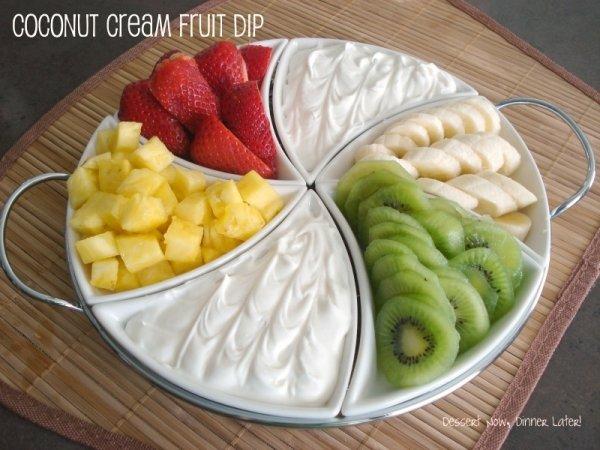 Coconut Cream Fruit Dip