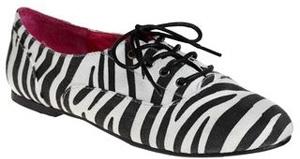 Modcloth Happy to Zebra Flat Animal Print Shoes