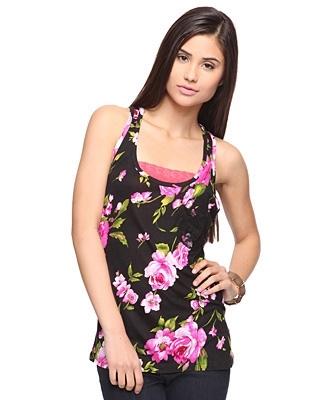 Floral Lace Knit Top