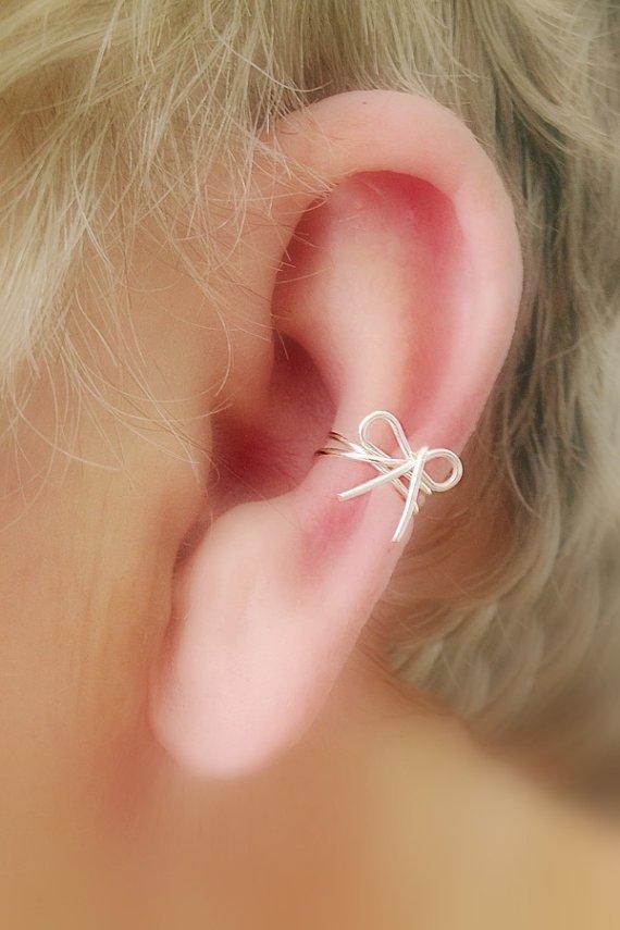 Ear Cuff Dainty Bow - Non Pierced