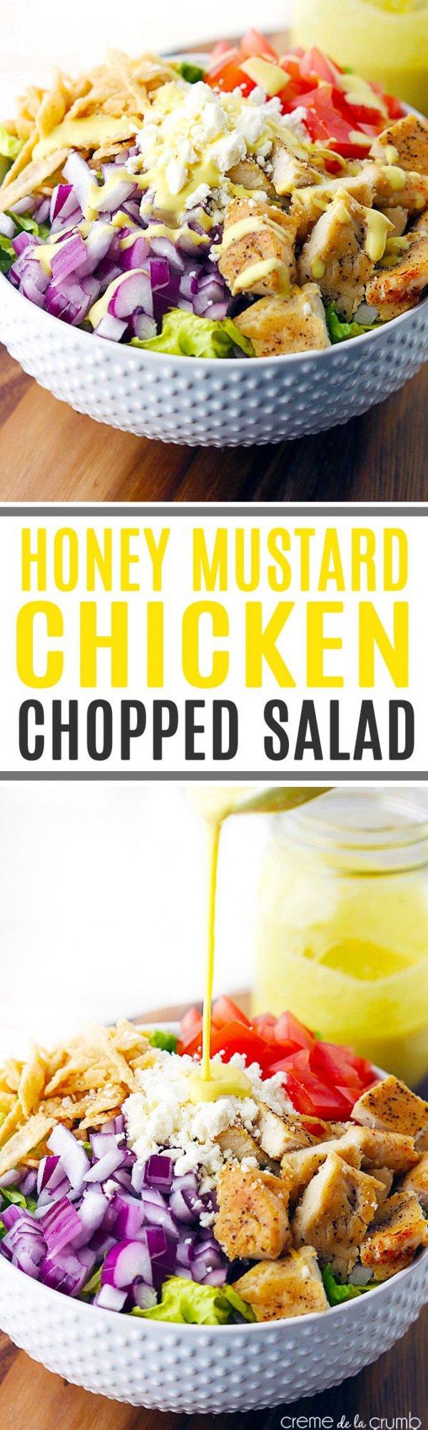 Seasoned Chicken, Feta Cheese, & Crispy Wonton Strips