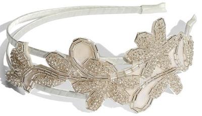 Beaded Flower Headband by Cara Accessories