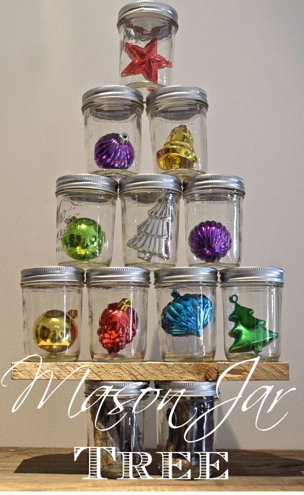 Mason Jar Christmas Tree