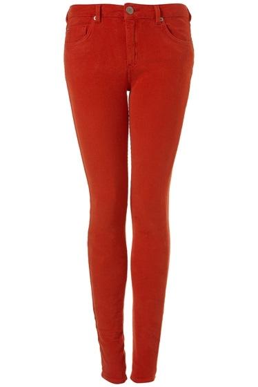 Moto Tomato Cord Skinny Jeans