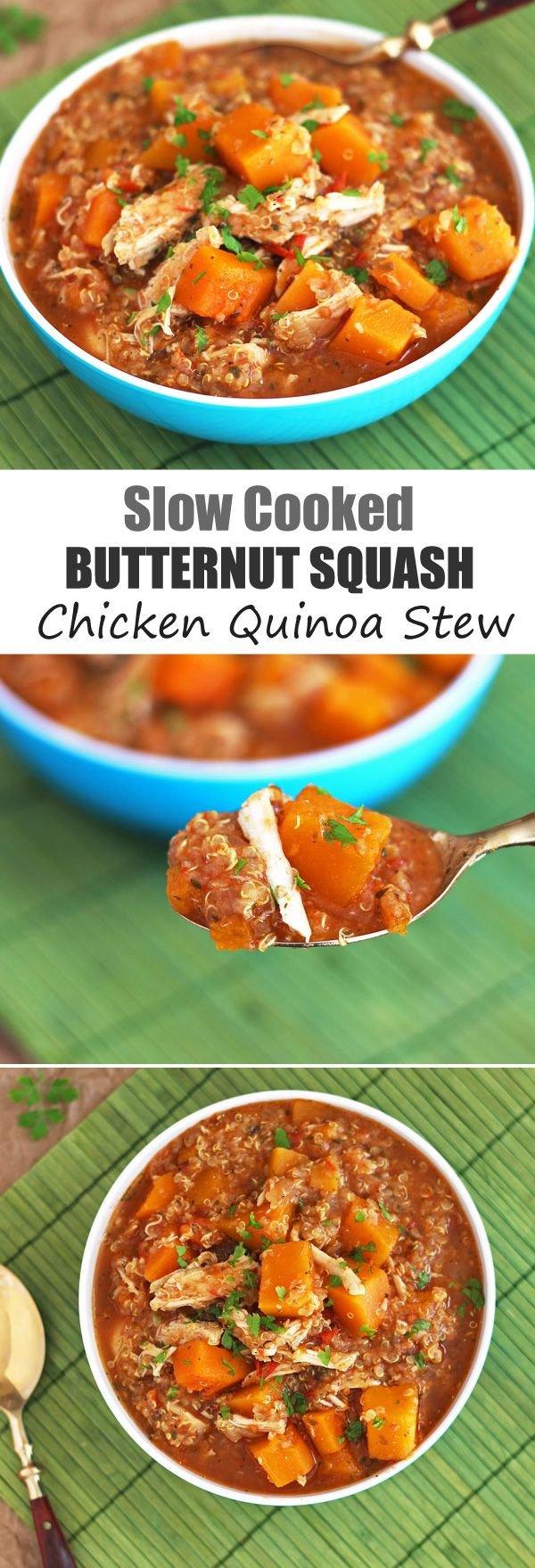 Butternut Squash Chicken Quinoa Stew