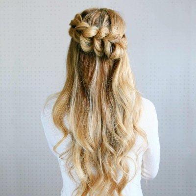 hair, hairstyle, long hair, french braid, braid,