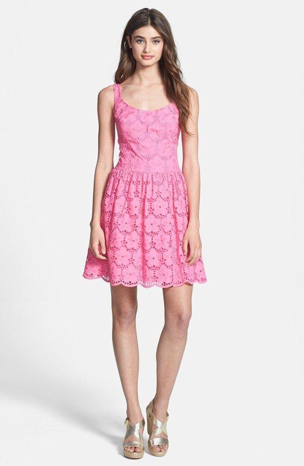'Calhoun' Cotton Lace Fit & Flare Dress