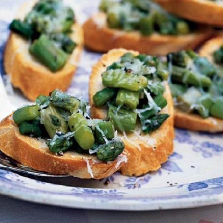 Truffled Asparagus Crostini Recipe...