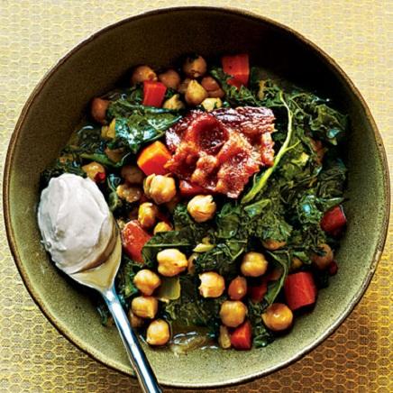 Garbanzo Beans and Kale Recipe...