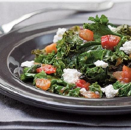 Salsa-Braised Kale Recipe...