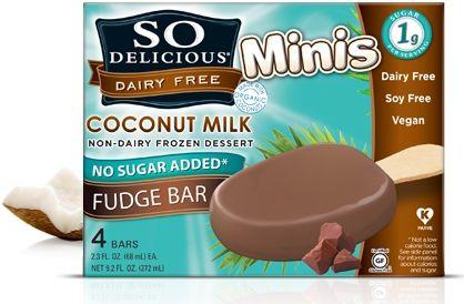 So Delicious Mini No Sugar Added Bars