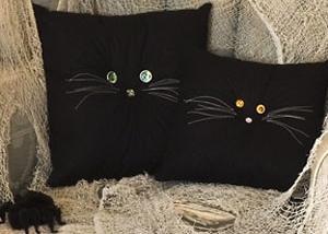 Black Cat Pillows