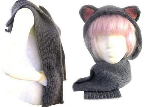 Kitty Hood Scarf