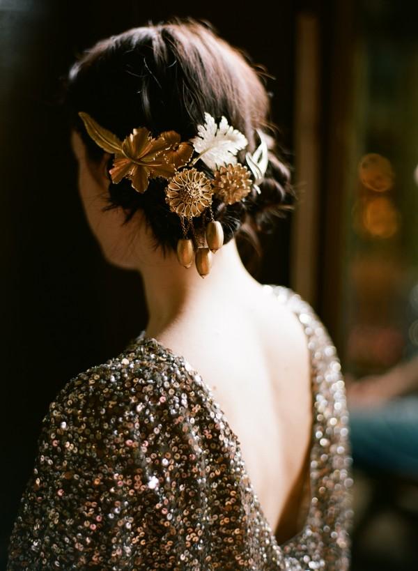 Gold Hair Pieces