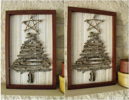 Twig Art - 10 Adorable DIY Wooden Christmas Tree Ideas ... …