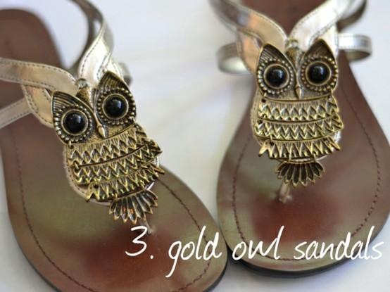 DIY Owl Sandals...