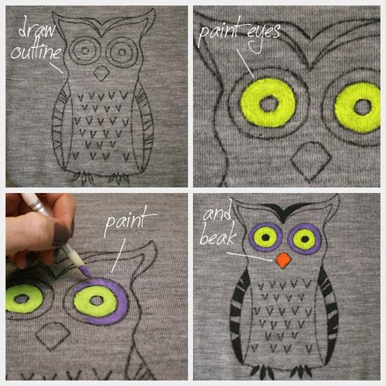 DIY Owl Sweater...