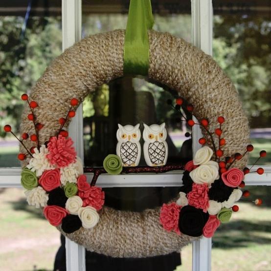 DIY Owl Wreath...