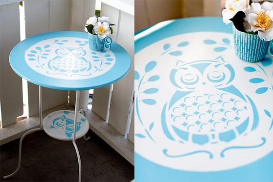 DIY Owl Table Stencil...
