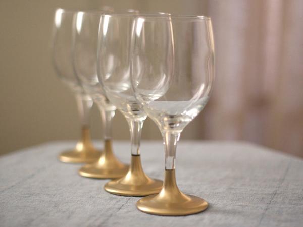Golden Dipped Glassware