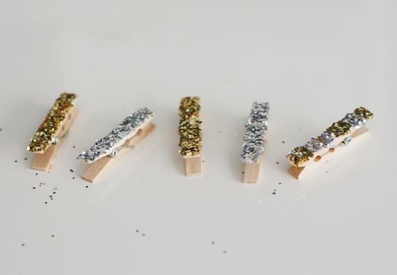Glitter Clothespins