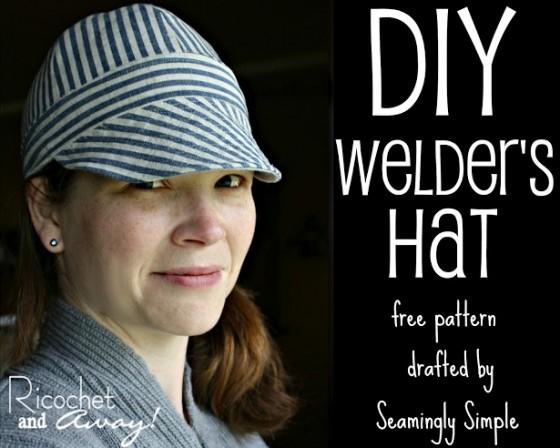 Reversible Welder's Hat