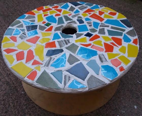Mosaic Garden Table