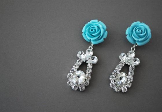 Prada-Inspired Rose Earrings
