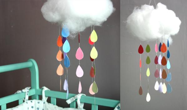 7 cute diy rain cloud mobiles diy