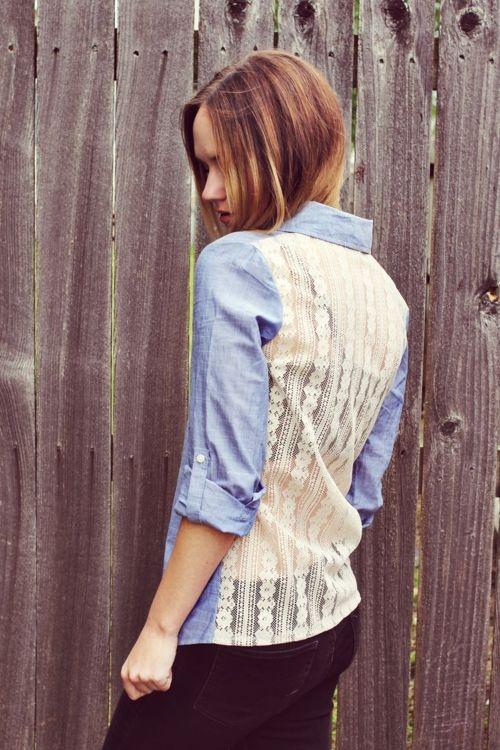 Lacy Back Shirt
