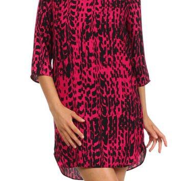Abstract Dots Shift Dress