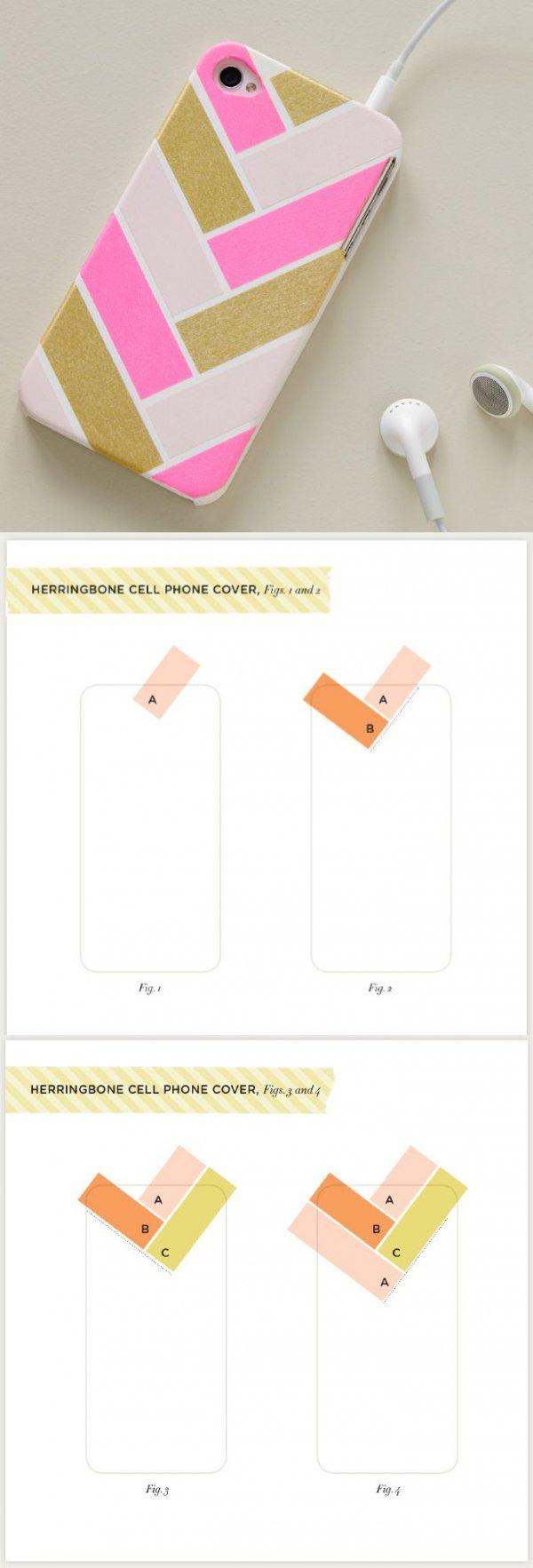 Herringbone Washi Tape Case