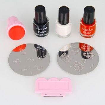 7PCS DIY Nail Art Stamping Image Tools Kit