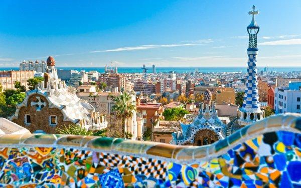 Casa Batlló, Park Güell, Morella Castle, Barcelona, Park Güell,