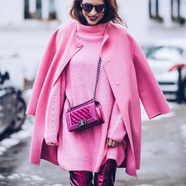 pink, clothing, coat, fashion model, fashion,