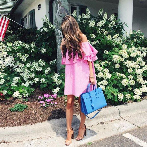 clothing, pink, dress, spring, flower,