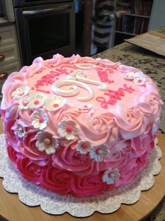 Flowery Cake 26 Stunning Sassy Sweet 16 Birthday Cakes