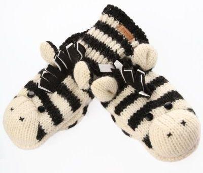Zebra Winter Gloves