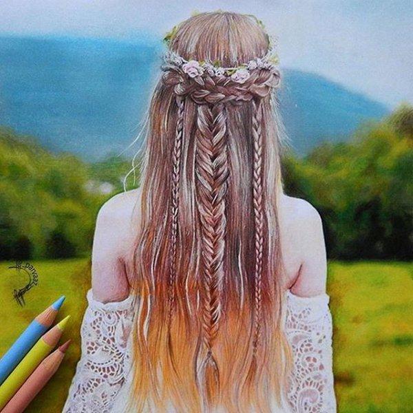 clothing, hair, hairstyle, long hair, dress,