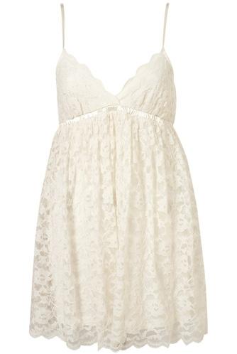 Topshop Ivory Lace Babydoll Slip