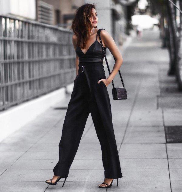 black, clothing, spring, fashion, dress,